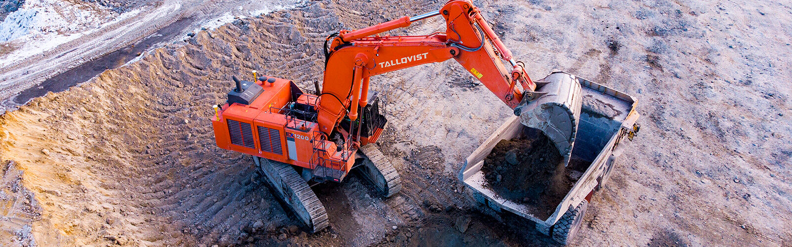 Tallqvist mining kaivinkone kiviauto
