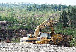 Talvivaaran kaivostyömaa